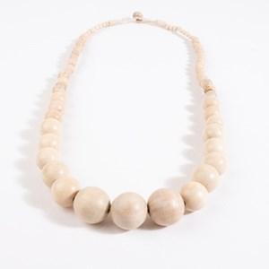 Graduated Timber Balls Necklace