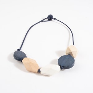 Short Timber Shapes Cord Necklace