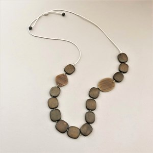 Woodlands Timber Resin Cord Back Necklace