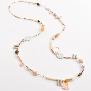 Stone Long Mix Bead Necklace