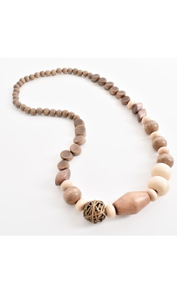 Timber Weave Shapes Necklace