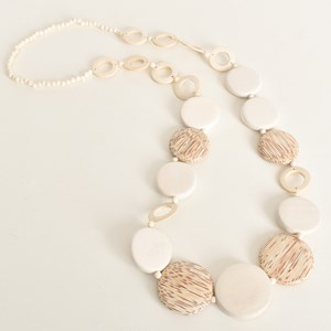 Coco Discs Timber Long Necklace