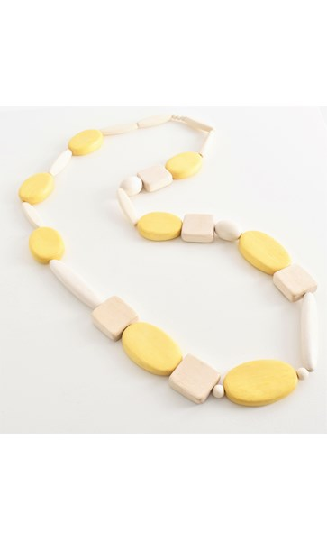 Timber Shapes Long Necklace