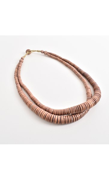 Wheel Disc Duo Strand Necklace