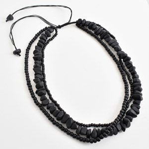 3 Strand Resin Mix Short Adjustable Necklace