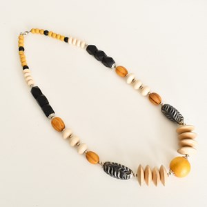 Timber and Resin Mix Bead Short Necklace