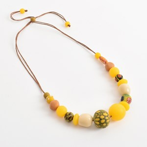Resin Craft Bead Mix Short Adjustable Necklace