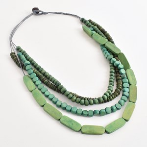 4 Strand Mix Timber Necklace