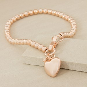 Heart and Hinged Clip 10mm Metal Ball Necklace