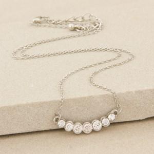 Mini Diamante Circles Fine Necklace