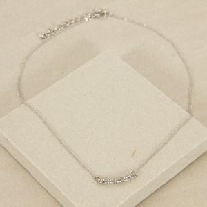 Super Fine Diamante Bar Short Necklace
