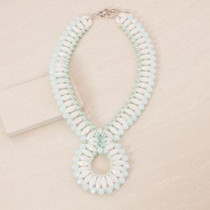 Crystal Looped Statement Necklace