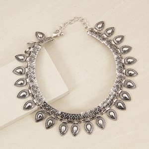 Boho Teardrop Edge Collar Necklace