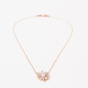 CZ Baguette Almond Fine Necklace