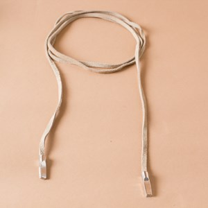 Metal Capped Suede Wrap Bolo