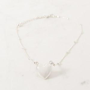 Metal Heart Short Fine Necklace