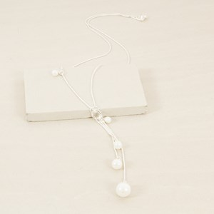 Fresh Water Pearl Droplets Long Snake Necklace