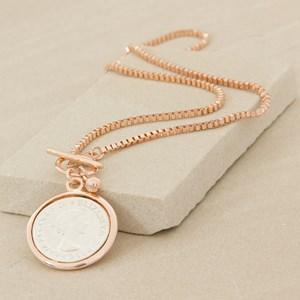 Coin Pendant Chain 47cm Necklace