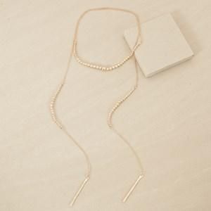 126cm Faux Diamante Ball Lariat Necklace