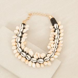 40cm Cowrie Shell on Plait Necklace