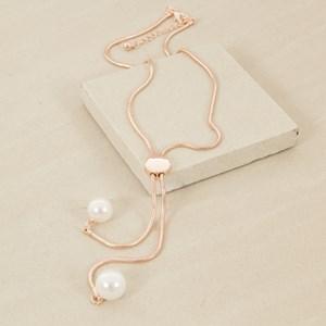 45cm Double Pearl Drop Necklace
