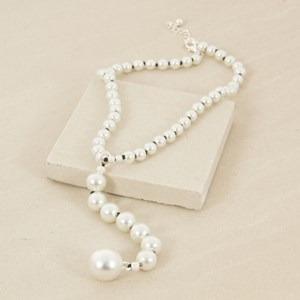 45cm Pearl Necklace with Large Pearl Drop