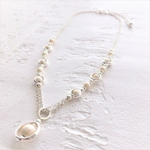 45cm Stone and Ring Fine Necklace