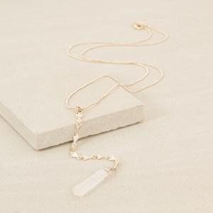 68cm Natural Crystal Y Drop Necklace