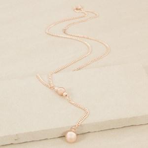 68cm Simple Ball Y Drop Necklace