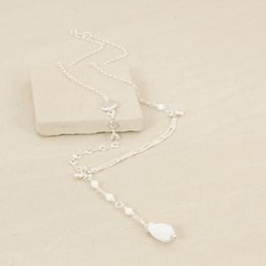 75cm Vintage Detail Stone Drop Necklace