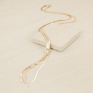 80cm Flat Snake Chain with Snake Tassel Necklace