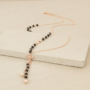 80cm Hand link Crystal Drops Necklace