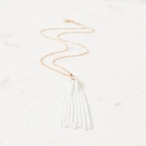 80cm Crystal Tassel on Fine Belcher Necklace