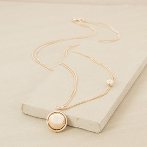 90cm Ringed Ball Double Chain Necklace