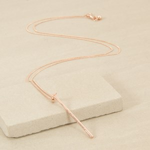90cm Fine Chain with Fine Rod Necklace