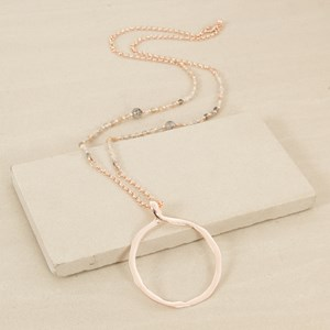 90cm Small Resin Ball and Belcher Chain with Ring Neckl