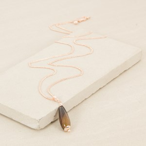 90cm Stone Drop on Fine Chain Necklace