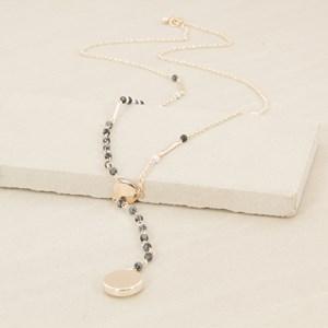 90cm Y Drop Hand Link Stone Necklace
