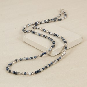92cm Stone and Crystal Mix Necklace with Toggle
