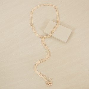 Seven Strand Loop Through Snake Necklace