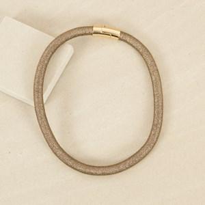 Lurex Rope Magnetic Closure Short Necklace