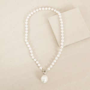 Large Egg Pearl Drop 45cm Necklace