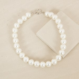 16mm Glass Pearl Short Necklace
