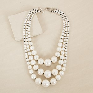 Lucy Statement Faux Pearl Necklace