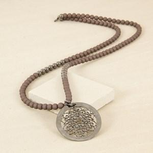 Interval Resin Ball & Filigree Pendant Necklace