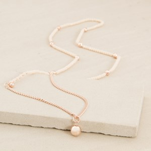 Long Fine Facet Crystal with Ball Drop Necklace