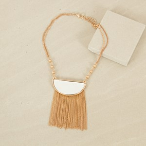 Half Moon Chain Fringe Necklace