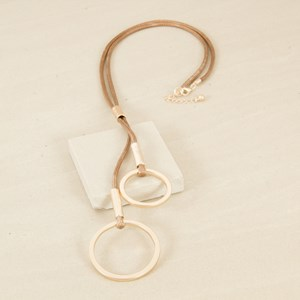 Cord & Metal Tassel Necklace