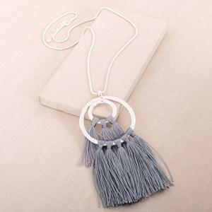 Double Ring Fringe Necklace