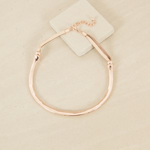 Uneven Structured Leather Backed Necklace